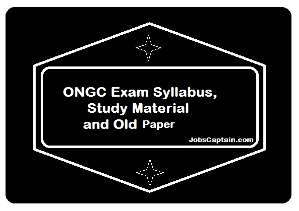 ongc exam syllabus material