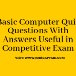 Basic Computer Questions Answers Pdf Useful in Competitive Exam