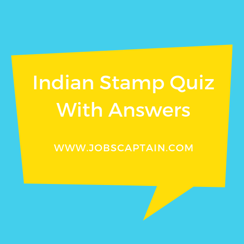 Indian Stamp Quiz With Answers pdf
