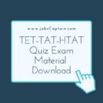 TET-TAT-HTAT Quiz Exam Material