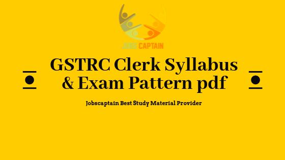 GSRTC Clerk Syllabus and Exam Pattern Pdf