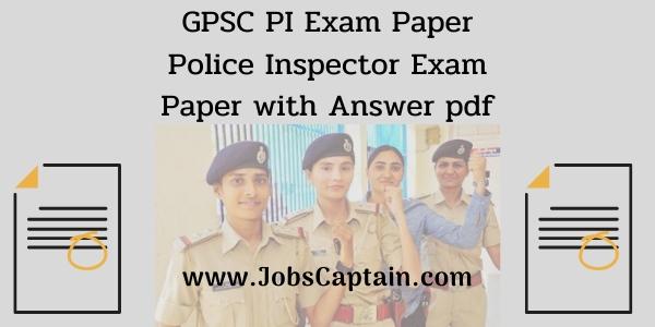 GPSC pi exam paper
