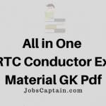 GSRTC Conductor Exam Material Pdf