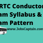 GSRTC Conductor Exam Syllabus and Exam Pattern