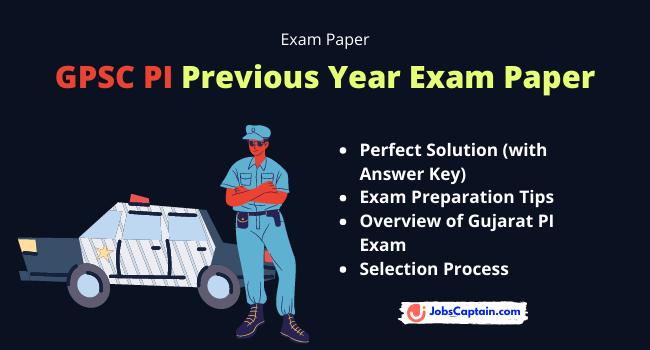 GPSC PI Exam Paper Pdf