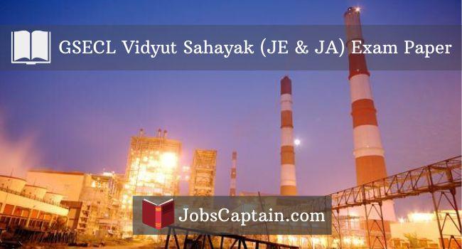 GSECL Vidyut Sahayak (JE & JA) Exam Paper