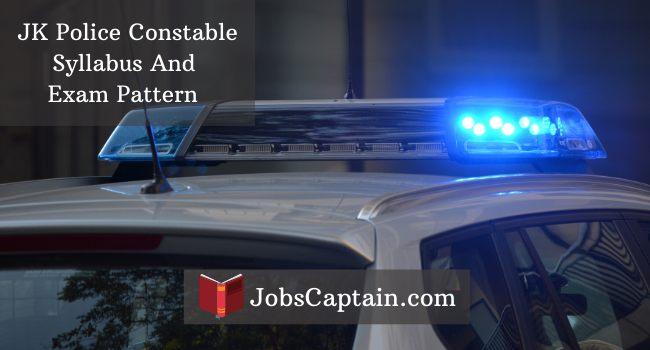 JK Police Constable Syllabus jammu kashmir