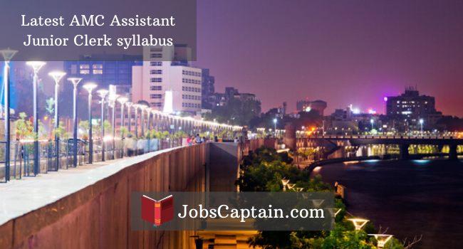 AMC Assistant Junior Clerk syllabus