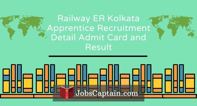 Railway ER Kolkata Apprentice Recruitment admit card and result