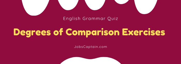 Degrees of Comparison quiz