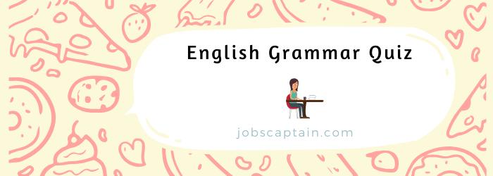 English Grammar Quiz online
