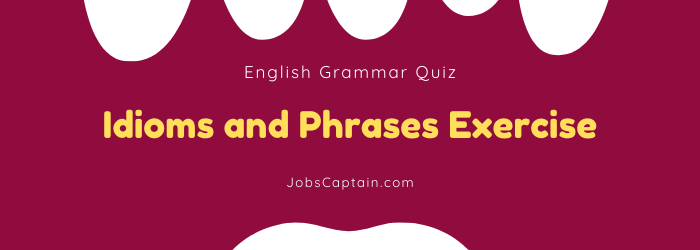 Idioms and Phrases Exercise