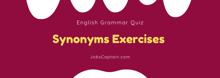 Synonyms Quiz with Answer