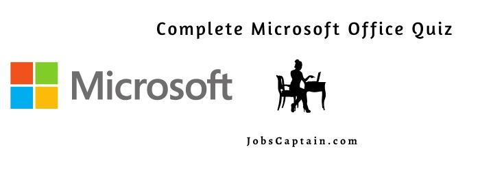 ms office quiz Microsoft Office