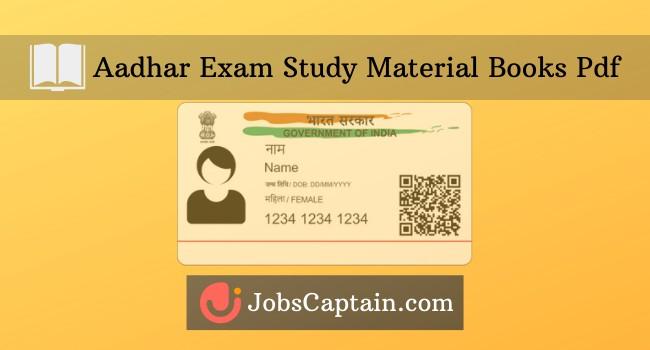 Aadhar Exam Study Material Pdf Book - Aadhar Supervisor Exam