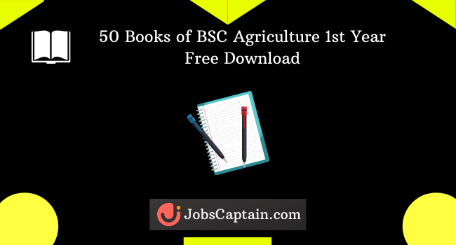 BSC Agriculture 1st Year Notes Pdf Free Download