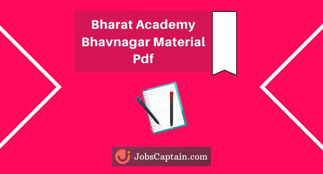 Bharat Academy Bhavnagar Material Pdf