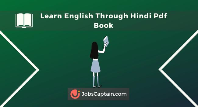 Learn English Through HindiPdf Book