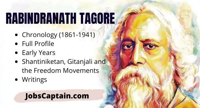 Rabindranath Tagore Chronology, Profile, Freedom Movements and Books of Rabindranath Tagore
