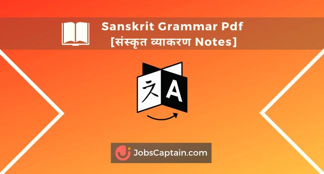 Sanskrit Grammar Pdf संस्कृतsव्याकरण Notes books