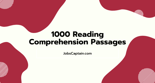 1000 Reading Comprehension Passages Pdf
