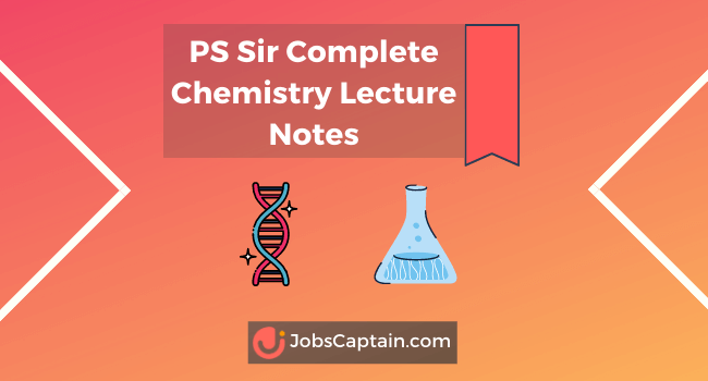 PS Sir Complete Chemistry Lecture Notes Jee neet pdf book