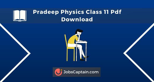 Pradeep Class 11 Physics Pdf Book Free Download