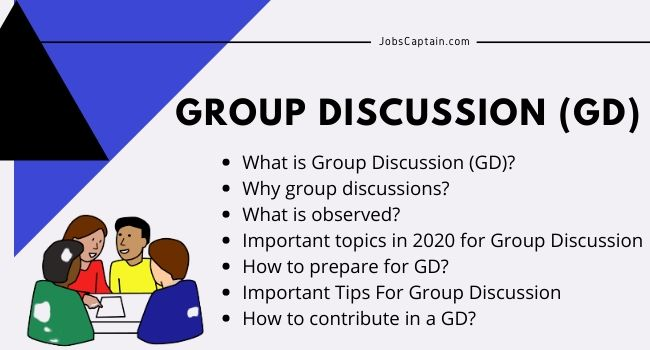 What is Group Discussion (GD) Read Tips, Latest Topics, Preparation for GD