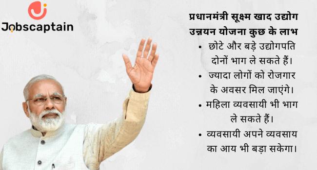 प्रधानमंत्री सूक्ष्म खाद उद्योग उन्नयन योजना के लाभ