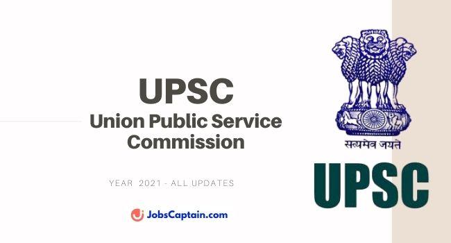 UPSC All Updates - JobsCaptain