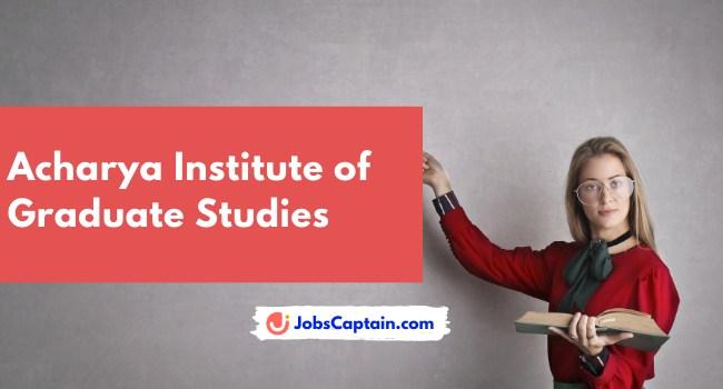 Acharya Institute of Graduate Studies