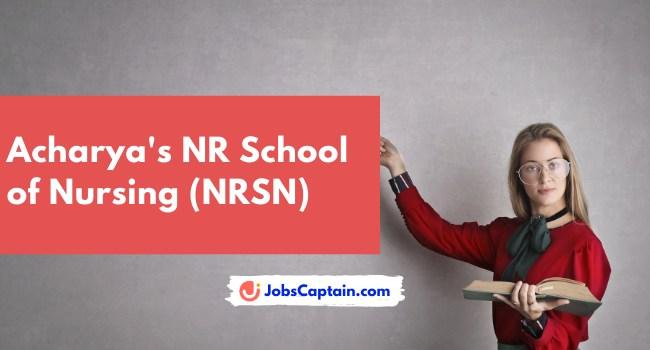 Acharya's NR School of Nursing (NRSN)