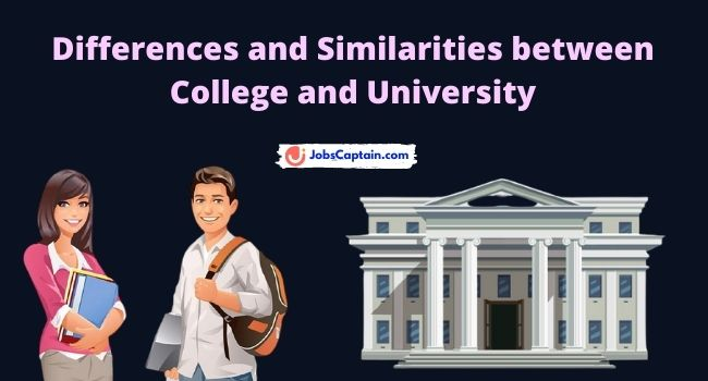 Differences and Similarities between College and University