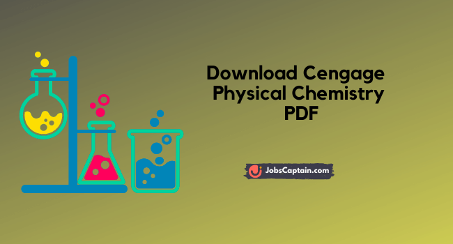 Cengage Physical Chemistry PDF Download