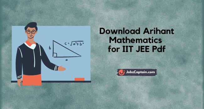 Arihant Mathematics for IIT JEE Pdf