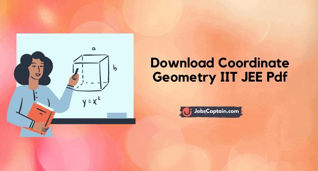 Coordinate Geometry IIT JEE
