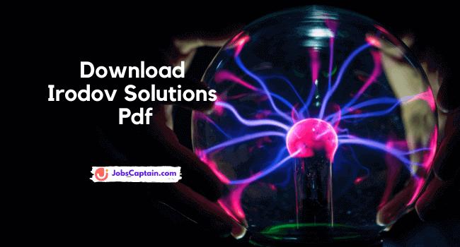 Download Irodov Solutions Pdf