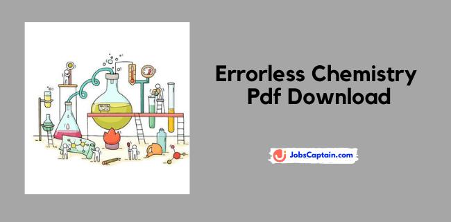 Errorless Chemistry Pdf