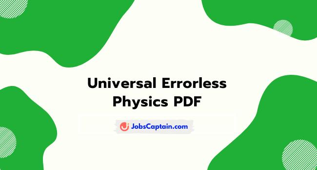 Errorless Physics Pdf book