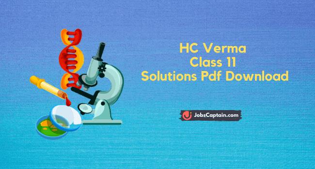 HC Verma Class 11 Solutions