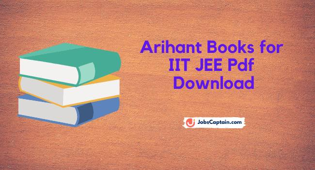 Arihant Books for IIT JEE Pdf Download
