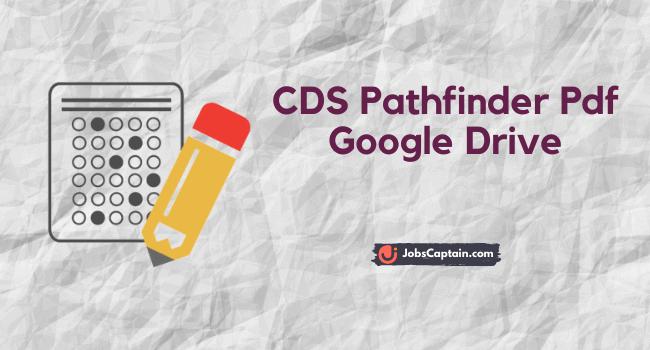 CDS Pathfinder Pdf Google Drive