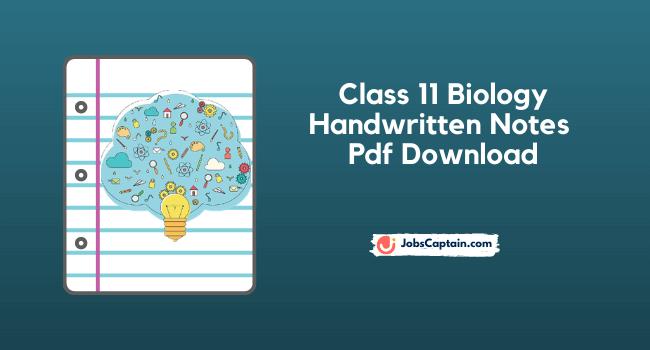 Class 11 biology Handwritten Notes Pdf Download