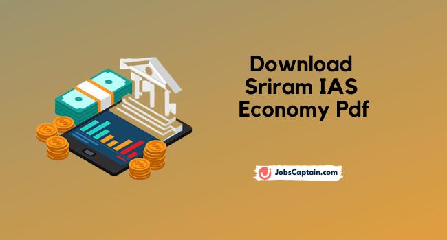Download Sriram IAS Economy Pdf