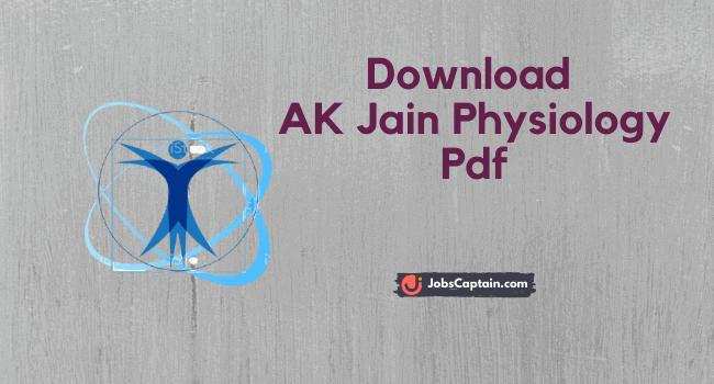 Free Download AK Jain Physiology Pdf