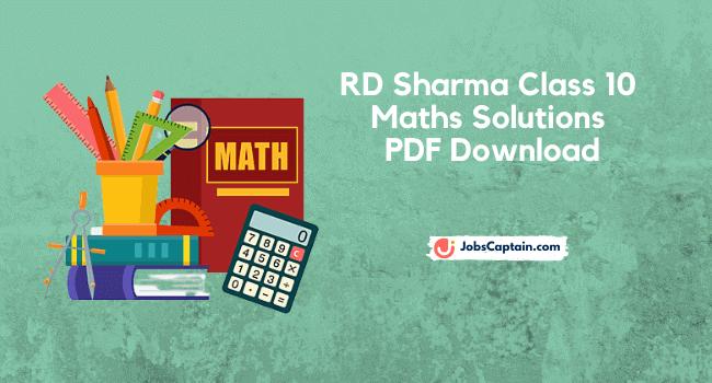 RD Sharma Maths Solutions Class 10 PDF Download