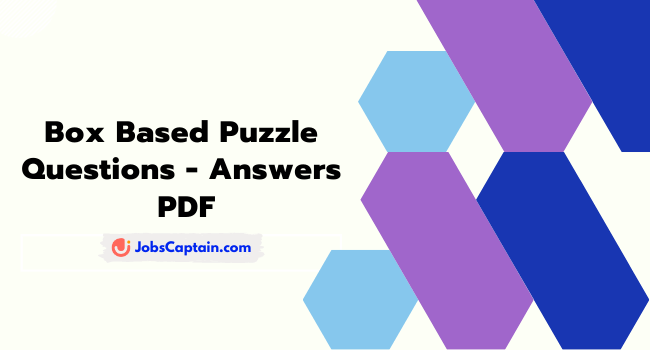 Box Based Puzzle PDF for IBPS