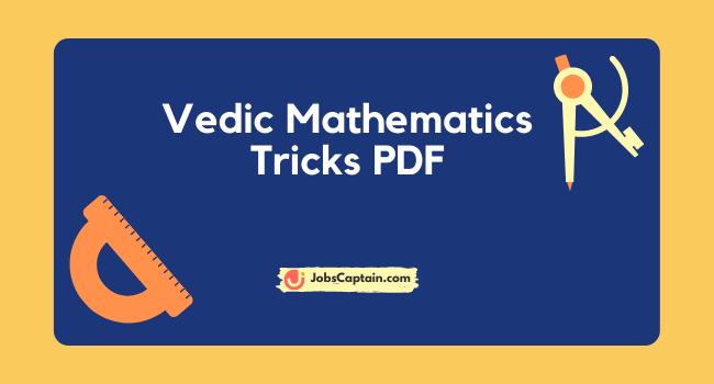 Vedic Mathematics Tricks PDF