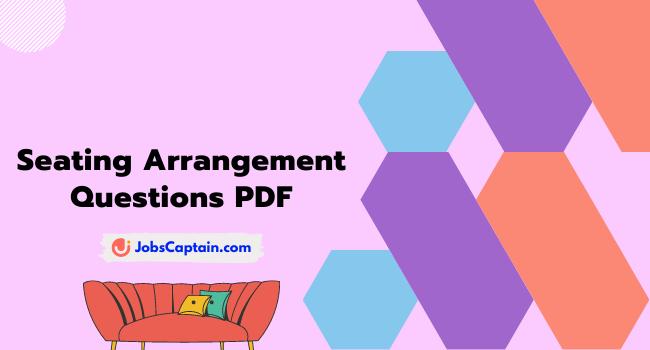 Seating Arrangement Questions PDF