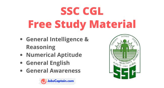 SSC CGL Exam Study Material